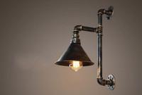 armazém de metais venda por atacado-Industrial Edison lâmpadas de Parede de Metal Do Metal Da Tubulação de Água Sconce Wall Warehouse Luminárias de Parede E27 110 V / 220 V Iluminação de Cabeceira LLFA