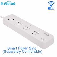uzaktan kumandalı güç şeritleri toptan satış-Toptan Satış - Akıllı Otomasyon için BroadLink MP1 Akıllı Güç Şeridi Soketi Ayrı Kontrol Edilebilir WiFi Uzaktan Kumanda 4-Outlet Priz