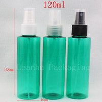 Wholesale Glass Bottle Pump Packaging - 120ml X 50 green cosmetic spray bottles for cosmetics packaging, 120cc empty plastic PET container with mist sprayer pump 4 oz