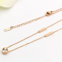 Mexican black steel sheet metal - Hot sales hot style south Korean version of the long square sheet metal K rose gold necklace for women s fashion prevention