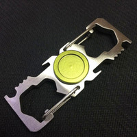 Wholesale Bottle Opener Edc - Metal Carabiner Spinner Bottle Opener Spinners Machined Aluminum Alloy Hand Spinner Fidget Spinners EDC Decompression Fidget Toys
