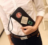 Wholesale Arm Wallets - Manufacturers Tideing Brand New Korean Male Bag Multifunctional Leisure Card Wallet More Individual Male Purse Punk Arms Long Wallet