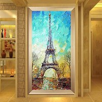 Wholesale Entranceway Oil Paintings - oil paintings canvas modern paintings for canvas Thick oil knife painting vertical version of the entranceway mural abstract paintings