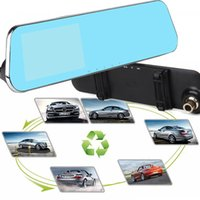 Dual Lens Car DVR Dash Camera Rearview Mirror 4.3