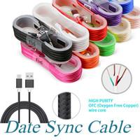 micro cables de cargador al por mayor-1,5M USB A USB de carga C de carga USB cable del cargador del cable de sincronización de datos de la cuerda del cable para Android Celular sin paquete