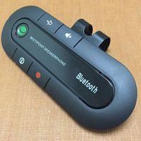freie handzelle großhandel-Smartphone Car Kit Fahrzeuglautsprecher Wireless Multi Point Wireless Handsfree Sonnenblende Auto Lautsprecher für Handy Bluetooth Freisprecheinrichtung USZ052