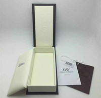 Wholesale Wholesale Watch Boxes Cases - Retail Luxury Brand Daniel Wellington Watch Box Dw Original Watch Box With Instructions And Manual Case 14*8*3cm Without Watch DHL Free