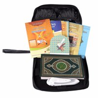 Wholesale French English Translations - Wholesale-Leather bag Latest Wholesale High Quality Digital Quran Reader Pen 30 Translations Arabic, English, French, Urdu, German,Spanish