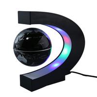 ingrosso lampada porta-LED Magnetic Suspension Toy Globe Levitazione Floating Globe Lead Light Lampada da tavolo Illuminazione natalizia per Natale Decor Halloween