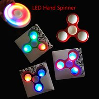 Wholesale Toy Led Gyroscope - LED Fidget Spinner HandSpinner Hand Spinner Finger Toy For Decompression Anxiety ABS Fingertip gyroscope XT