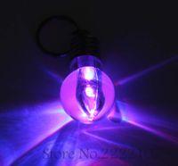 Wholesale Led Light Bulb Flashing - Wholesale-New Bright Creative LED Flash Lights Mini Bulb Keychain Toys Party Supplies Dress Up Fun Toy