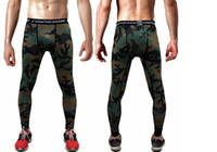 Wholesale Tights Men Thin - Wholesale- 3 d printing design compression leggings man 2016 exercise thin tights pants 2017 hot men's clothes