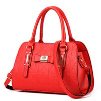 Wholesale Women Boston Handbag - Camellia® Socialite Plain Boston Genuine Leather with Sequined handbags Message Bags