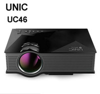 UNIC UC46 + Wireless WIFI Mini projetor portátil 1200 Lumen 800 x 480 Full HD LED Home Cinema Support Miracast / Airplay Proyector UC46