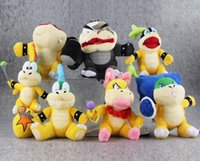 Wholesale Mario Plush For Free - Mario Bros Koopa7 Styles Super Mario Bros Koopa Plush Toy Soft Stuffed Doll for kids gift free shipping retail on sale