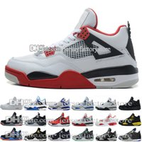 Wholesale Bond Horse - Wholesale Retro 4 Black white Horse H Top quality basketball shoes Best Sports Shoes Leather Men Basketball Shoes Retro 4S Sneakers US 8-13