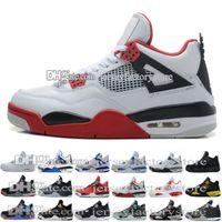 Wholesale H Shoes Men - Wholesale Retro 4 Black white Horse H Top quality basketball shoes Best Sports Shoes Leather Men Basketball Shoes Retro 4S Sneakers US 8-13