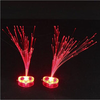 Wholesale Toy Dancing Plants - Emitting fiber optic wire hairpin flash fiber braid hair accessories dance bar Disco Flash Toys wholesale