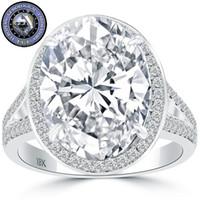 Wholesale Egl Diamond Rings - 8.08 EGL Certified D-SI2 Oval Cut Diamond Engagement Ring 18k White Gold