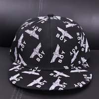 Wholesale London Caps - Spring and summer new flat eaves hip hop hats men and women Korean tide boy London sweet and lovely baseball cap wholesale