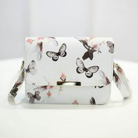 Wholesale Cell Phone Cross Body Pouches - Wholesale- Fashion Women Messenger Bags 3D Butterfly Printed Crossbody Shoulder Bag Travel Bags leather handbags ladies pouch bolsas W2