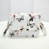 Wholesale Cross Body Bags Prints - Wholesale- Fashion Women Messenger Bags 3D Butterfly Printed Crossbody Shoulder Bag Travel Bags leather handbags ladies pouch bolsas W2
