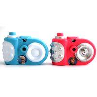 mini brinquedos câmeras venda por atacado-Mini câmera de projeção crianças simulação de plástico mini câmera sucção placa equipada brinquedo encantador simulação