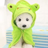 Wholesale Puppy Drying Towel Pet Dog Bath Towel Absorbent Shower Bathrobe Pajamas Blankets Cleaning High Quality Pet Product