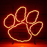 "Wholesale Billiards Signs - Neon sign New Clemson Tigers Real Glass Neon Light Signs Home Shop Store Beer Bar Pub Restaurant Billiards Shops Display 17""X14"""