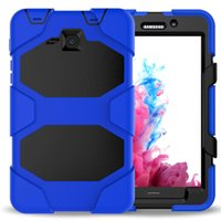 Wholesale galaxy tab military case online - Military Heavy Duty ShockProof Rugged Impact Hybrid Tough Armor Case FOR SAMSUNG Galaxy Tab P5200 T550 T560 T580 P580 T810 T820 pc