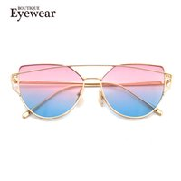 Wholesale Mix Deck - Wholesale-BOUTIQUE Cat Eyes Women Sunglasses Women Summer Style Vintage Sun glasses Woman Double-Deck Alloy Frame H963