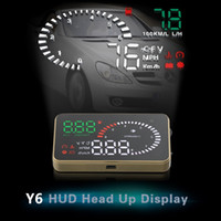 Wholesale vehicle models - Head Up Display 3.5inch Car HUD Vehicle Speed KM h MPH Overspeed Warning Windshield Compatible with OBD II EOBD System Model Cars