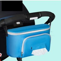 Wholesale Hanging Stroller - 3 colors Multifunctional Waterproof Universal Baby Stroller Bag Organizer Baby Car Hanging Basket Storage Stroller Accessories