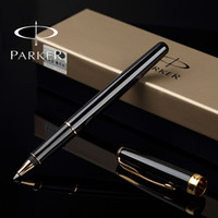 Wholesale Ballpoint Rollerball - Parker Sonnet Rollerball Pen Silver   Gold Clip Business Parker roller ball Pen High Quality office Writing Stationery Supplies
