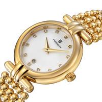 data da concha venda por atacado-Marca de luxo pérola pulseira de diamantes face shell TWINCITY relógio de quartzo das mulheres cronógrafo relógio de pulso data automática esportes lazer relógios