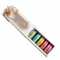 Wholesale Wholesale Snack Cakes - High quality Europe type window macaron boxes snack Christmas cake boxes 15.7x6.8x5.2cm wholesale wa4022