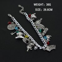 Wholesale Alice Wonderland Charm - Freeshipping China Post Ordinary Small Packet Plus 1pc a lot Alice in Wonderland charm Bracelet E1-3-40