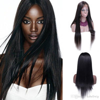 Wholesale Brazilian Virgin No Tail Yarn Wig Is Full Lace Wig Of My Shoes And Higher Black Women On The Basis Of Human Hair Straight Silk Weaving