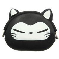 Compra Borse Di Gelatina Nere-Commercio all'ingrosso - FGGS-Donne Donne Donne Portafoglio Kawaii Cartoon Animale Silicone Jelly Coin Bag Purse Capretto