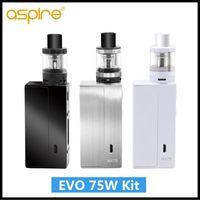 Wholesale Electronic Cigarette Evo - Original Aspire EVO 75W Kit with 75W NX75-Z TC Box Mod and 2ml Atlantis EVO Tank Electronic Cigarette Starter Kit Aspire EVO 75W