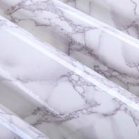 Wholesale Vinyl Adhesive Tiles - Wholesale- 2M Modern PVC Marble Self Adhesive Wallpaper Furniture Tiles Kitchen Backsplash Vinyl Decorative Sticker Wall Papers Home Decor