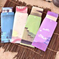 Wholesale Vintage Letter Paper Envelopes - Wholesale- 1Set = 6 Sheets Writing Paper+3 Sheets Envelope Vintage Kawaii Korean Stationery for Gift Card Baby Wedding Letter Invitations