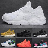 Wholesale Air Running Shoes Womens - 2017 air Huarache 1 Ultra shoes Men Running Shoes Triple Black White red womens Huraches Sneakers Breathable Sports Shoes eur 36-45