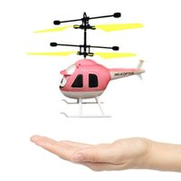 Wholesale Remote Control Aircraft Rc - Mini RC Helicopter With Gyro Remote Control Toys Mini Drone With Flashing Indication Aircraft Kid Toys