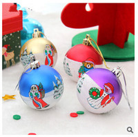 Atacado- 6Pcs / Lot Christmas Colorful Light Baubles Xmas Tree Pendurado Ball Party Decoration Ornament Home Party Supplies Navidad Gift
