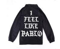 Wholesale Maroon Jacket - Kanye West Jacket Senson3 Unsex Jacket Maroon Windbreaker I Feel Like Pabo Print Skateboard Hip Hop Brand Clothing Bap