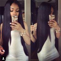 Wholesale Cheap Wigs Weaves - Brazilian Straight Human Hair Weaves Weft Cheap Hair Malaysia Peruvian Indian Double Weft 50g Human Hair