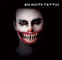 Wholesale Horror Face Makeup - #HBM09 Man And Women Horror Sharp Teeth Makeup Temporary Tattoo for Makeup Party Body Sticker