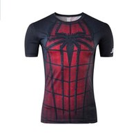 Crew Neck spiderman mens - 13kinds crossfit mens t shirts fashion movie star shirts spiderman suoerhero gym clothing short sleeves New Arrival High Quality