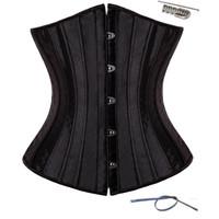 Wholesale Body Spirals - wholesale 28 Spiral Steel Boned Waist Plus Size Underbust Corset Shaperwear Top Body Shaper
